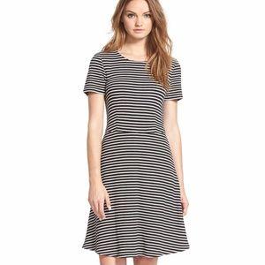Madewell Anywhere Stripe Dress Black & White M
